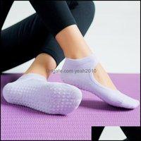 Athletic Outdoor als OutdoorsWomen Hohe Qualität Pilates Socken Anti-Slip Atmungsaktiv Backless Yoga Knöchel Damen Balletttanz Sport Für Fitne