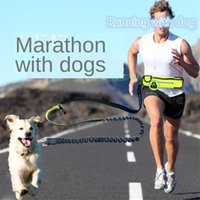 Dog Collars & Leashes Pet Supplies Waterproof Waist Bag Sports Running Traction Rope Multifunctional Belt Leash Can Be Used Separately