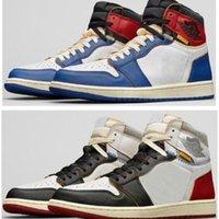 Haut Union La X 1 High OG OG NRG Tempête Blanc Bleu Varsity Red Wolf Gris Chaussures Hommes 1S Sneakers avec