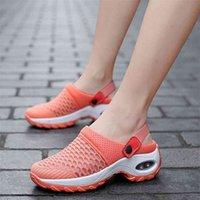 المرأة شبكة أحذية الهواء وسادة السيدات الأحذية منصة أحذية رياضية المشي الرياضية صندل مريح عارضة تنفس أسافين النعال أحذية