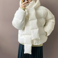 Cotton-padded Coat Women's Puffy Thick Short Hooded Solid Color Bread 2021 Winter Warm Puffer Jacket Female Down & Parkas
