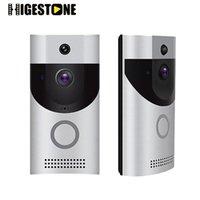 Higestone TF Card Vidéo Poolbell Soignée sans fil Bell Boîte Moniteur de la batterie Visionneuse IR Night Vision Péphole Application Application Téléphones de porte de contrôle
