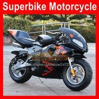 2021 Mini Motorfiets 2-takt Sport Kleine Locomotive Moto Bikes BBirthday Gift Hand Start 49CC 50cc Nieuwe 2 Takt Benzine Motobike Kart Kinderen Racing Motor