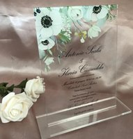 Other Event & Party Supplies White Floral Acrylic Wedding Invitation,Custom Menu,Transparent Invitation,Acrylic Quinceanera Invitation,Party