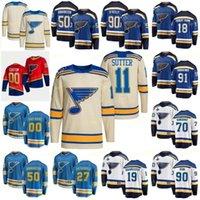 세인트 루이스 블루스 2022 겨울 클래식 크림 12 Zach Sanford Hockey Jersey 36 Steven Santini 6 Marco Scandella 10 Brayden Schenn 51 Nolan Stevens Restare Retro Jerseys
