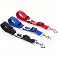 6 Colors Cat Dog Car Safety Seat Belt Harness Adjustable Pet Puppy Pup Hound Vehicle Seatbelt Lead Leash MMA174