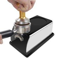 Realand solidny stal nierdzewny silikonowy espresso stojak sabotażowy barista narzędzie Uchwyt na stojak na półce do kawy 210910