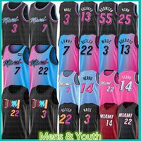 Miami Heat Mens Youth Kids Tyler 14 Herro Jimmy 22 Butler Bam Basketball Jersey Adebayo Dwayne Dwyane 3 Wade Goran Duncan Dragic Kendrick Robinson Nunn