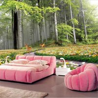 Wallpapers Custom Po Wallpaper Mural Living Room Bed Natural Forest Elk Scenery 3d Picture Sofa TV Backdrop For Wall