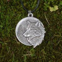 Chains Viking Wild Animal Pendant Mountain Pine Tree Wolf Necklace Amulet