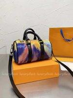 Latest Tie Dye Nano Pillow Bag Designer Women Mens Luxurys Handbags Travel Handle Handbag 2021 Europe and America Popular M80953 XS Purse