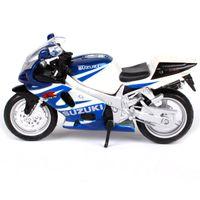 Maisto 1/18 118 Ölçekli Suzuki GSX R750 Motosikletler Motosikletler Diecast Ekran Modelleri Doğum Günü Hediyesi Oyuncak Erkek Çocuklar için