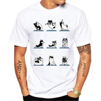 Men's T-Shirts Harajuku Siberian Husky Printed T-Shirt Summer Fashion Men Short Sleeve Funny Dog Design Boy Casual Tops White Tee