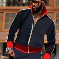 الرجال الأزياء رياضية الحروف الكلاسيكية الطباعة قطعتين ملابس الأولاد 2021 الخريف جاكيتات sweatpants نشط تشغيل الرياضية بالجملة الحجم الآسيوي