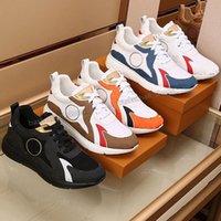 Luxurys acabam desgintadores sapatos homens corredor sapato de couro real malha mens esportes tênis tênis tênis treinadores tamanho 38-46