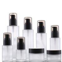 Großhandel Hersteller leerer nachfüllbarer Glaspresse ätherische Ölflasche 30g 50g 20ml 30ml 50ml 60ml 80 ml 100ml Creme-Verpackungsbehälter