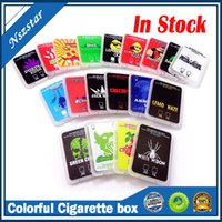 Empty colorful printing plastic cases Wax concentrate box packaging Shatter 0.5 1.0g Case SD card container in stock