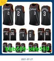 Clevelandcavaliersmen Collin Sexton Isaac Okoro Kevin Love Andre Drummond Larry Nance 2020-21 Black City Баскетбол Джерси Новый Uni