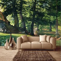 Wallpapers Custom Hand-painted Pastoral Scenery Woods Landscape Oil Painting 3D Po Wall Paper Home Decor Mural Bedroom Wallpaper