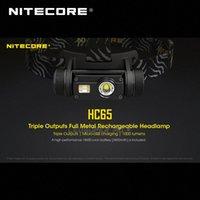 Gold Winner 2020 ISPO Award Nitecore HC65 Cree XML2 U2 LED 1000 люмен Triple вывод аккумуляторные фары с аккумуляторной батареей Li Ion I0RK #
