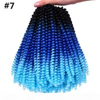 크로 셰 뜨개질 끈 30 스탠드 팩 스프링 트위스트 헤어 익스텐션 다채로운 Ombre Kanekalon 합성 땋는 Hari Crochet Braids