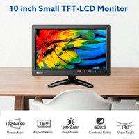 Monitor da 10 pollici EYOYO 1024x600 Display HD TFT Schermo LED Supporto AV VGA BNC Ingresso video per CCTV DVD PC DVR con monitor per altoparlanti