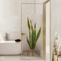 Static Window Film Privacy,Decor Stained Self-adhesive Film,Static Cling Door Removable Stickers Bathroom Decor