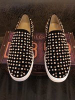 Loafers Men's casual shoes Male sneakers spiked Trainers Custom Classic Boat red bottom for men with shipping