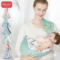 Baby Wrap Sling Enfant Toddler Sac Tissu Tissu Coton Floral Double Double Utilisation Couvercle de soins infirmiers de l'allaitement allaitant 210727