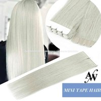AW Mini Tape In Extensions Balayage Machine Remy Hu Hair Invisible Seamls Double Sided Adhive Weft 40pcs