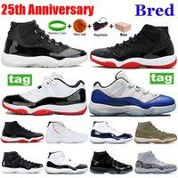 Snakeskin 11s retro Uomo Donna Scarpe alte e basse di pallacanestro 11 Concord Platinum Tint Space Jam Designer migliori scarpe sportive di qualità formatori