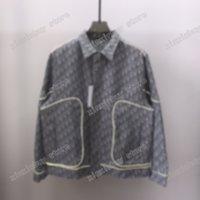 21ss tasarımcılar ceketler erkekler kadınlar jakarlı mektup büyük cep yansıtıcı şerit adam paris moda t-shirt tees sokak kısa kollu lüks tişörtleri gri