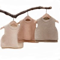 Waistcoat Baby Girls Sweaters Girl Solid Sleeveless Pullover Vest Boys Knit Kids Toddler Autumn Outerwear