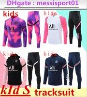 2021 2022 Kids Paris Chandal Futbol Tracksuit Mbappe التدريب دعوى 21/22 كرة القدم الفانيلة عدة كرة القدم