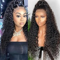 Lace Wigs Deep Wave 13x4 Curly Water Front Human Hair For Black Women Glueless Brazilian Remy