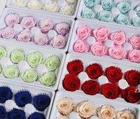 Gül Hediye Kutusu Ebedi Çiçek 8 Adet / Kutu El Yapımı Onvalentines Günü için Sonsuza Dönen Korunmuş Annenin Doğum Günü HWB10913