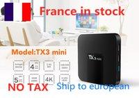 SHIP France to european TX3 mini Android 8.1 TV BOX 2GB 16GB Amlogic S905W Quad Core Suppot H.265 4K Media Player