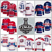 Hóquei Montreal Canadiens 31 Carey Price Jersey 22 Cole Cole Cufield 6 Shea Weber 11 Brendan Gallagher 14 Nick Suzuki 73 Tyler Toffoli Stanley Cup final homens juventude homens