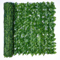 0.5 * 3M 인공 리프 개인 정보 보호 울타리 롤 벽 조경 화면 DIY 야외 정원 뒷마당 발코니 장식 꽃 화환