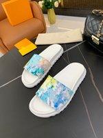 2022 remise Italie ACE Pantoufles Perle Snake Imprimer Diapositive Été Été Lady Slipper Hommes Femmes Sandales Technologie de broderie L