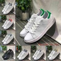 Satış 2021 Erkek Kadın Sneakers Rahat Ayakkabılar Yeşil Siyah Beyaz Lacivert Oreo Gökkuşağı Pembe Moda Erkek Düz Eğitmen Açık Tasarımcı Ayakkabı Boyutu 36-44 F12