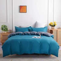 2021 Simple Bedding Sets 4 Pieces Pure Color Double-sided Four-piece Bed Set High Quality