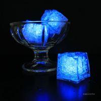 멀티 컬러 미니 낭만적 인 장식 빛나는 LED 인공 아이스 큐브 플래시 라이트 웨딩 크리스마스 파티 장식 T2I51770