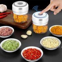 Aglio Masher Press Tool USB Wireless Electric Mincer Mincer Verdure Chili Carne Grinder Food Crusher Chopper Accessori da cucina FWD5777
