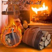 스토리지 가방 대형 캔버스 장작 캐리어 로그 토트 백 실내 벽난로 woodpile 랙 화재 나무 운반 도구 세트 바구니 블랙