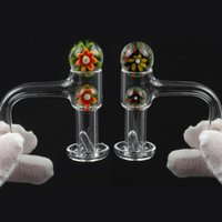 Smoking Accessories Od 20mm Fully Weld Banger +Flower Glass Ball +Quartz Pill 10mm 14mm 18mm Male Female 45 &90 °For Water Pipe Dab Rig