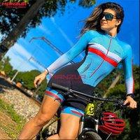 Racing Sets MANZUR Female Cycling Winter Clinical Uniforms Woman Roupas Femininas Com Frete Gratis Long Sleeve Women Rompers