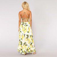 Vestido Boho Long Party Prom Floral Summer Beach Maxi Vestido Vestido para mujer Vestidos sexy Vestidos para mujer Mujeres Top Señoras # 3Whc
