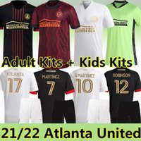 Новый 21/22 MLS Футбол Джетки Atlanta United LAFC INTER Miami La Galaxy 2021 2022 G.martinez Moreno Torres Взрослые Kids Kits Футбол Джерси