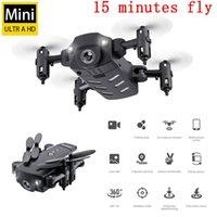 Mini Drone con fotocamera HD 720P 1080P RC Elicottero quadcopter Quadcopter multiple Batterie multiple estremamente lunghe durata della batteria piega i droni selfie
